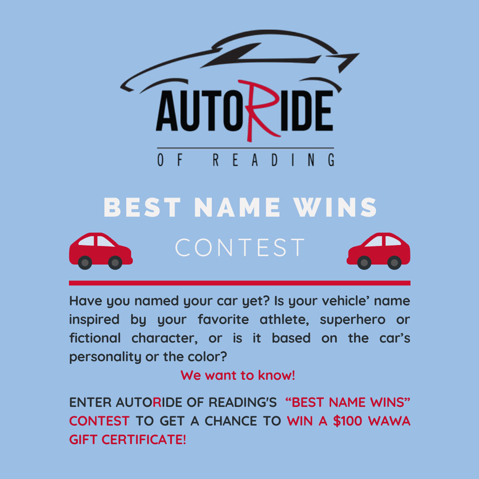 Name your car contest details