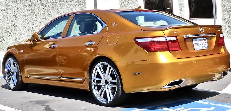 Gold Lexus car