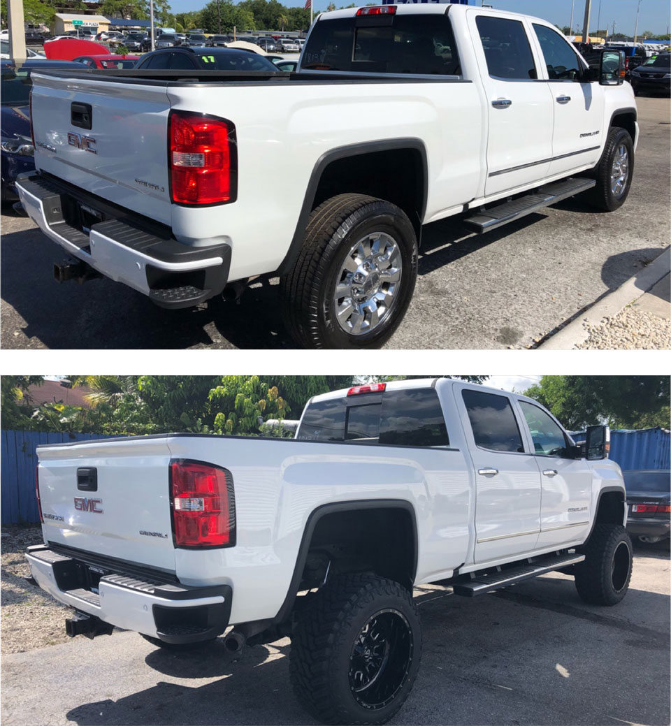 2015 GMC SIERRA 2500HD DENALI BEFORE AND AFTER PHOTOS