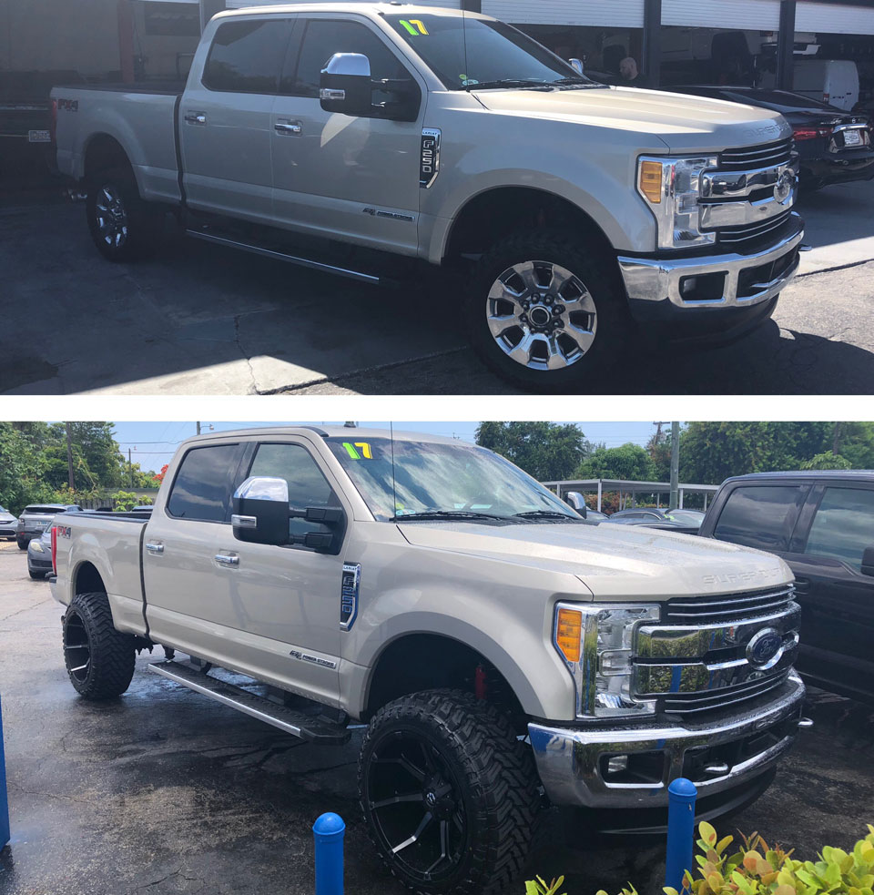 2017 FORD F-250SD LARIAT BEFORE AND AFTER PHOTOS